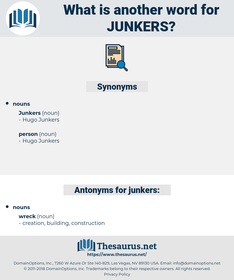 junkers, synonym junkers, another word for junkers, words like junkers, thesaurus junkers