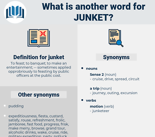 junket, synonym junket, another word for junket, words like junket, thesaurus junket