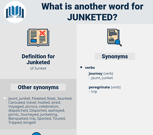 Junketed, synonym Junketed, another word for Junketed, words like Junketed, thesaurus Junketed