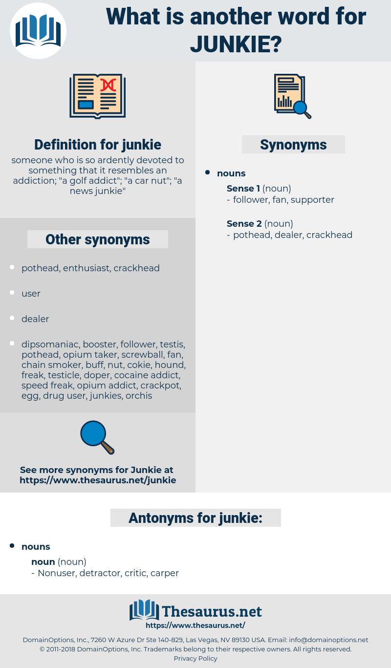 junkie, synonym junkie, another word for junkie, words like junkie, thesaurus junkie