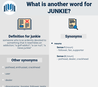 junkie, synonym junkie, another word for junkie, words like junkie, thesaurus junkie