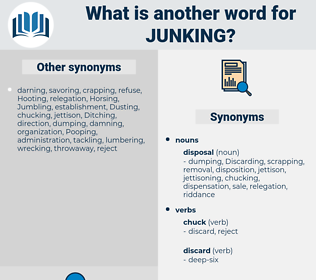 junking, synonym junking, another word for junking, words like junking, thesaurus junking