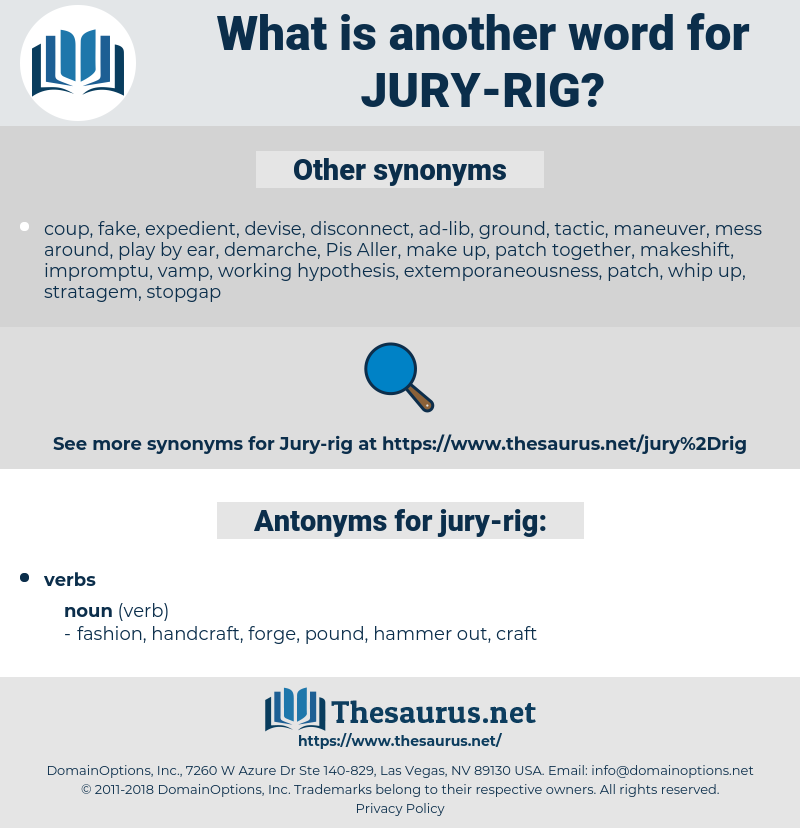 jury-rig, synonym jury-rig, another word for jury-rig, words like jury-rig, thesaurus jury-rig