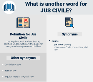 Jus Civile, synonym Jus Civile, another word for Jus Civile, words like Jus Civile, thesaurus Jus Civile