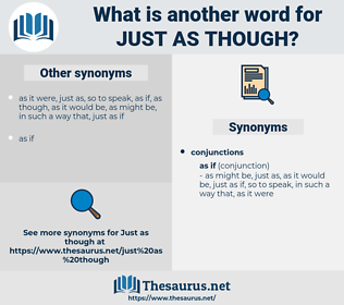 just as though, synonym just as though, another word for just as though, words like just as though, thesaurus just as though