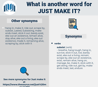 just make it, synonym just make it, another word for just make it, words like just make it, thesaurus just make it
