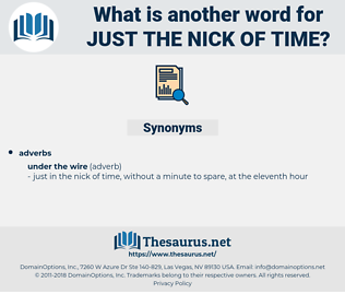 just the nick of time, synonym just the nick of time, another word for just the nick of time, words like just the nick of time, thesaurus just the nick of time