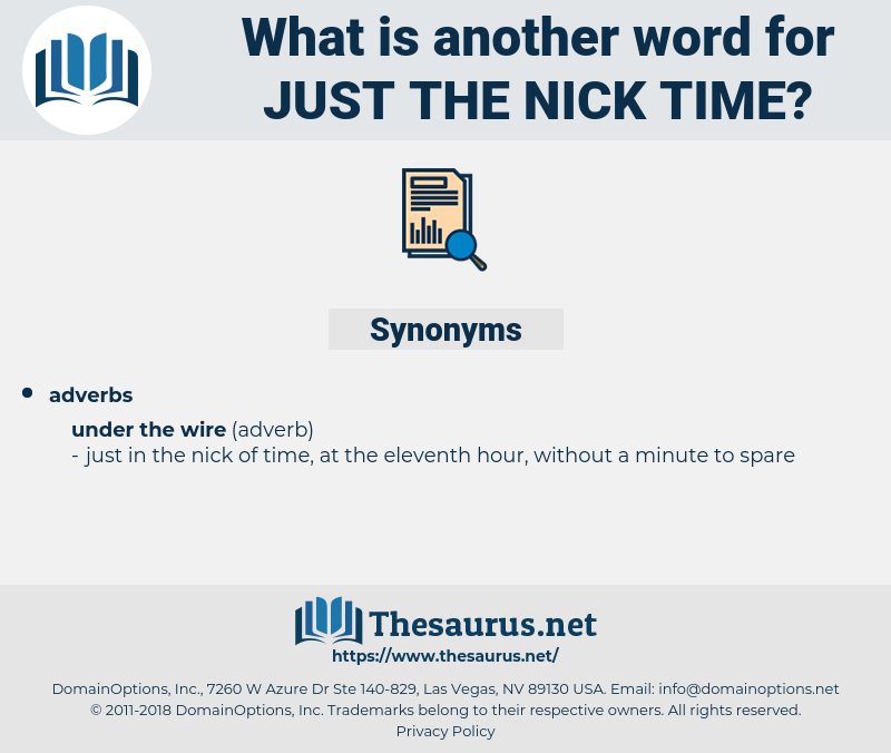 just the nick time, synonym just the nick time, another word for just the nick time, words like just the nick time, thesaurus just the nick time