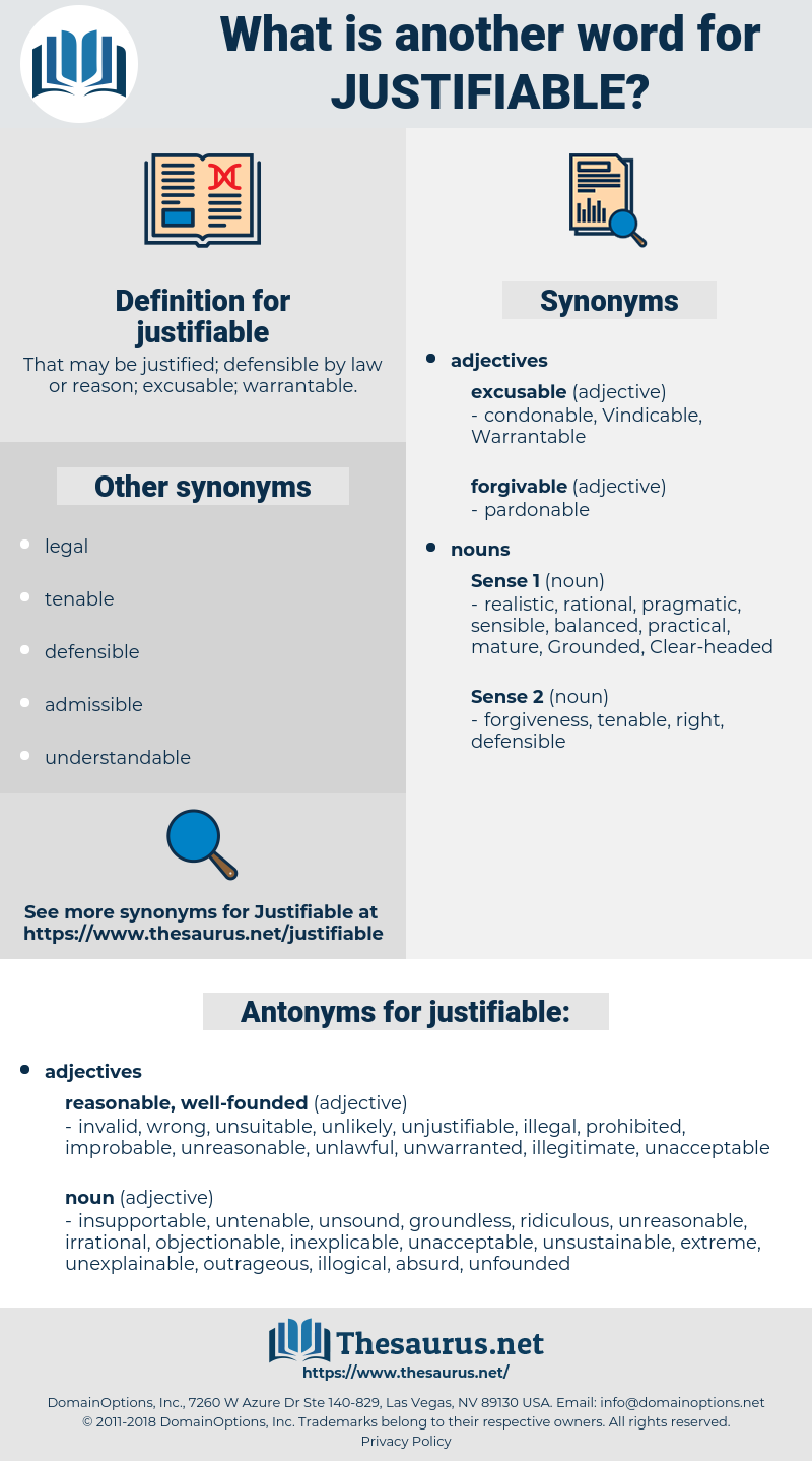 justifiable, synonym justifiable, another word for justifiable, words like justifiable, thesaurus justifiable