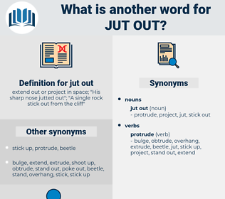 jut out, synonym jut out, another word for jut out, words like jut out, thesaurus jut out