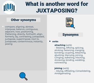 juxtaposing, synonym juxtaposing, another word for juxtaposing, words like juxtaposing, thesaurus juxtaposing