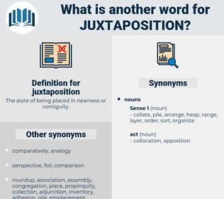 juxtaposition, synonym juxtaposition, another word for juxtaposition, words like juxtaposition, thesaurus juxtaposition