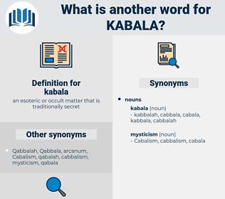 kabala, synonym kabala, another word for kabala, words like kabala, thesaurus kabala