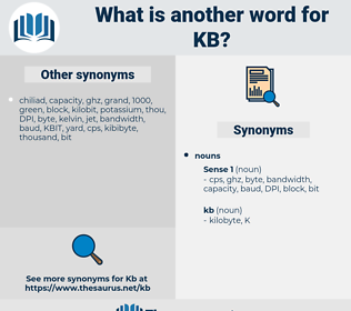 kb, synonym kb, another word for kb, words like kb, thesaurus kb