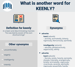 keenly, synonym keenly, another word for keenly, words like keenly, thesaurus keenly