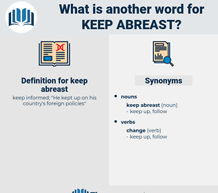 keep abreast, synonym keep abreast, another word for keep abreast, words like keep abreast, thesaurus keep abreast