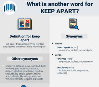 keep apart, synonym keep apart, another word for keep apart, words like keep apart, thesaurus keep apart