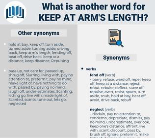 keep at arm's length, synonym keep at arm's length, another word for keep at arm's length, words like keep at arm's length, thesaurus keep at arm's length