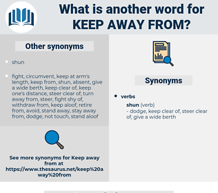 keep away from, synonym keep away from, another word for keep away from, words like keep away from, thesaurus keep away from