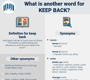 keep back, synonym keep back, another word for keep back, words like keep back, thesaurus keep back