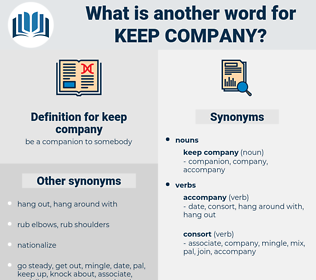 keep company, synonym keep company, another word for keep company, words like keep company, thesaurus keep company