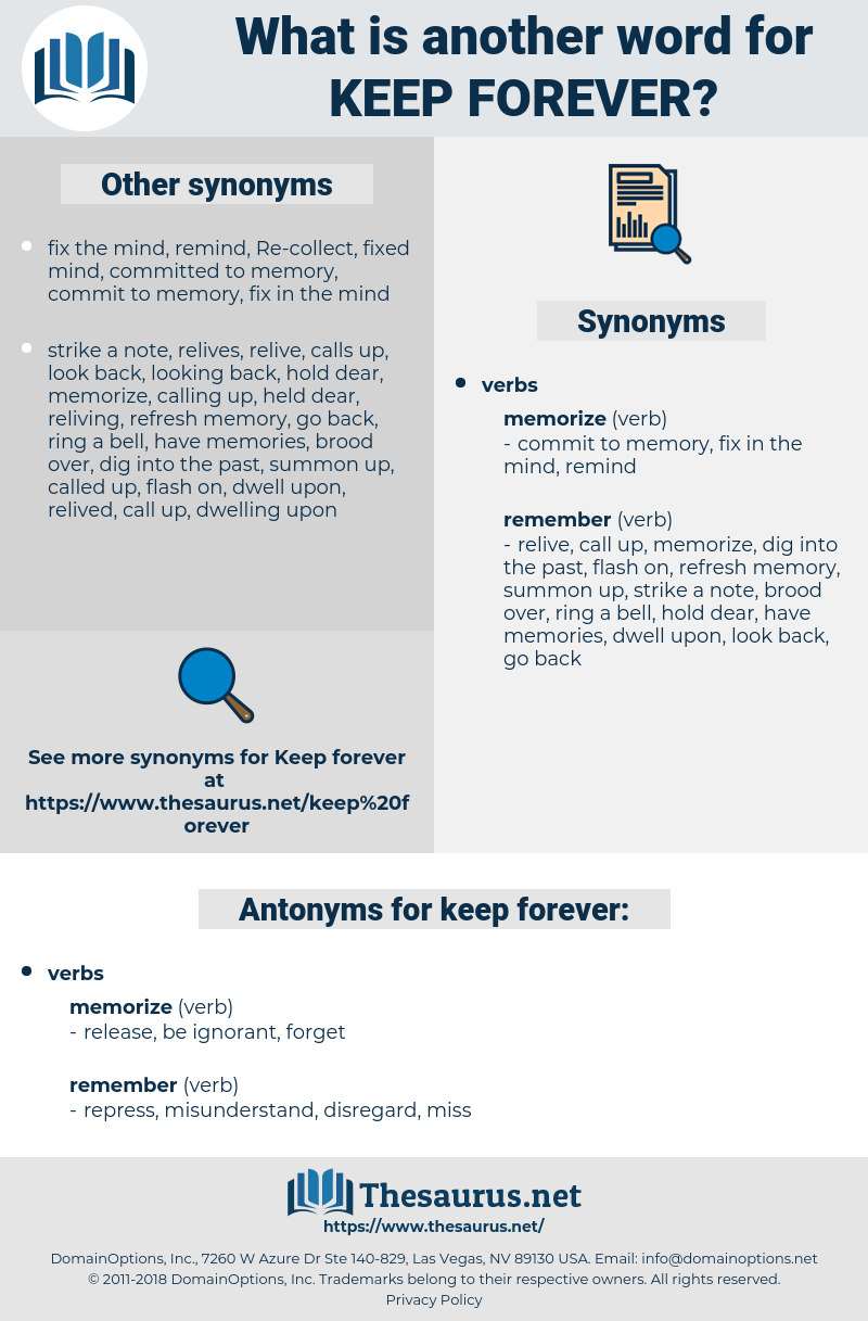 keep forever, synonym keep forever, another word for keep forever, words like keep forever, thesaurus keep forever