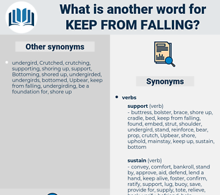 keep from falling, synonym keep from falling, another word for keep from falling, words like keep from falling, thesaurus keep from falling