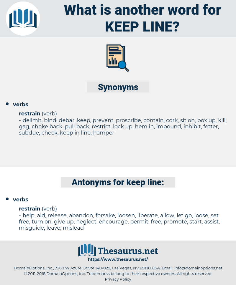 keep line, synonym keep line, another word for keep line, words like keep line, thesaurus keep line