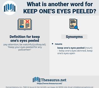 keep one's eyes peeled, synonym keep one's eyes peeled, another word for keep one's eyes peeled, words like keep one's eyes peeled, thesaurus keep one's eyes peeled