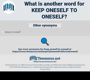 keep oneself to oneself, synonym keep oneself to oneself, another word for keep oneself to oneself, words like keep oneself to oneself, thesaurus keep oneself to oneself