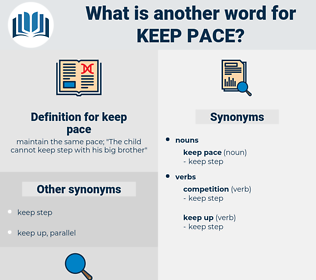keep pace, synonym keep pace, another word for keep pace, words like keep pace, thesaurus keep pace
