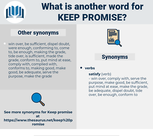 keep promise, synonym keep promise, another word for keep promise, words like keep promise, thesaurus keep promise