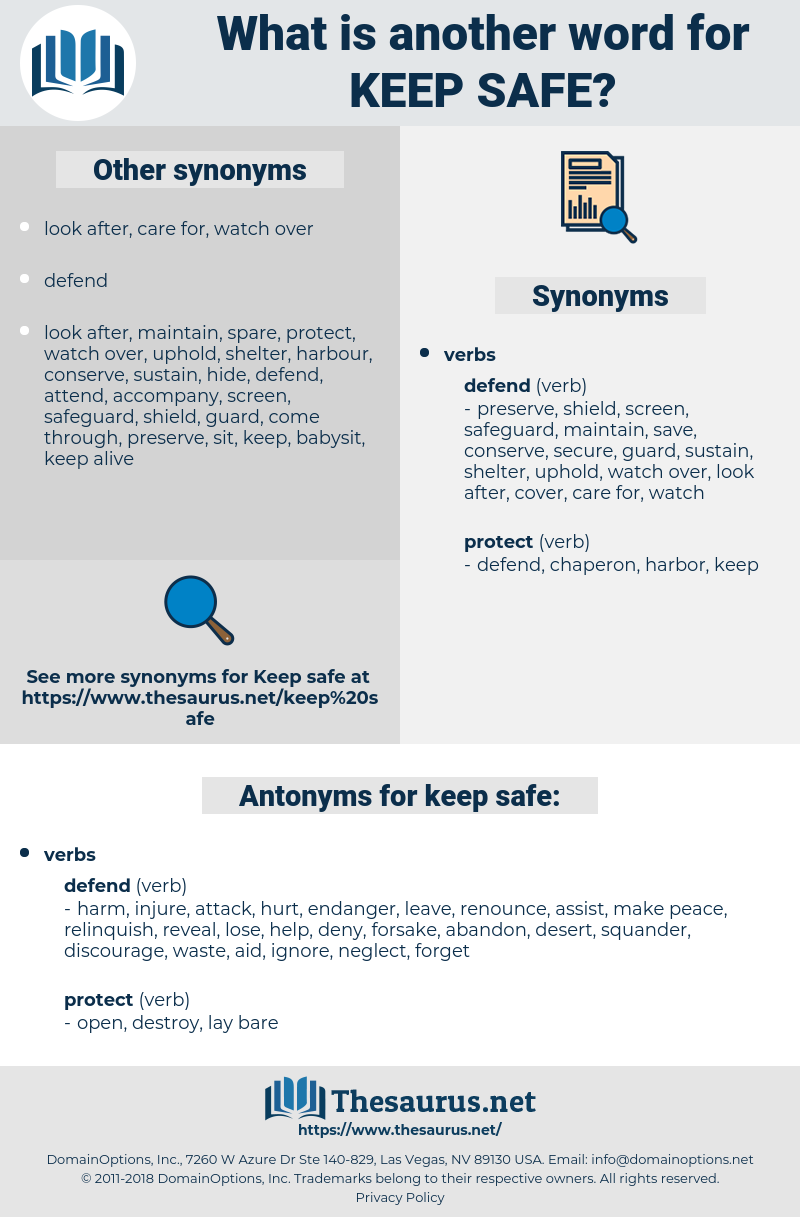 keep safe, synonym keep safe, another word for keep safe, words like keep safe, thesaurus keep safe