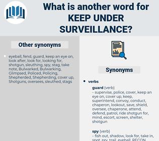 keep under surveillance, synonym keep under surveillance, another word for keep under surveillance, words like keep under surveillance, thesaurus keep under surveillance