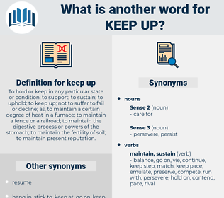 keep up, synonym keep up, another word for keep up, words like keep up, thesaurus keep up