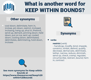 keep within bounds, synonym keep within bounds, another word for keep within bounds, words like keep within bounds, thesaurus keep within bounds