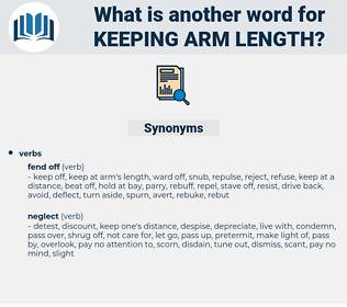 keeping arm length, synonym keeping arm length, another word for keeping arm length, words like keeping arm length, thesaurus keeping arm length