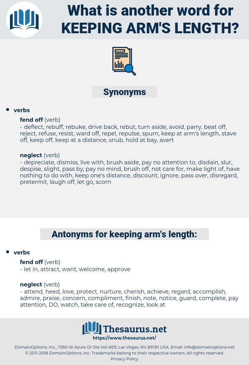 keeping arm's length, synonym keeping arm's length, another word for keeping arm's length, words like keeping arm's length, thesaurus keeping arm's length