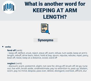keeping at arm length, synonym keeping at arm length, another word for keeping at arm length, words like keeping at arm length, thesaurus keeping at arm length