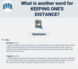 keeping one's distance, synonym keeping one's distance, another word for keeping one's distance, words like keeping one's distance, thesaurus keeping one's distance