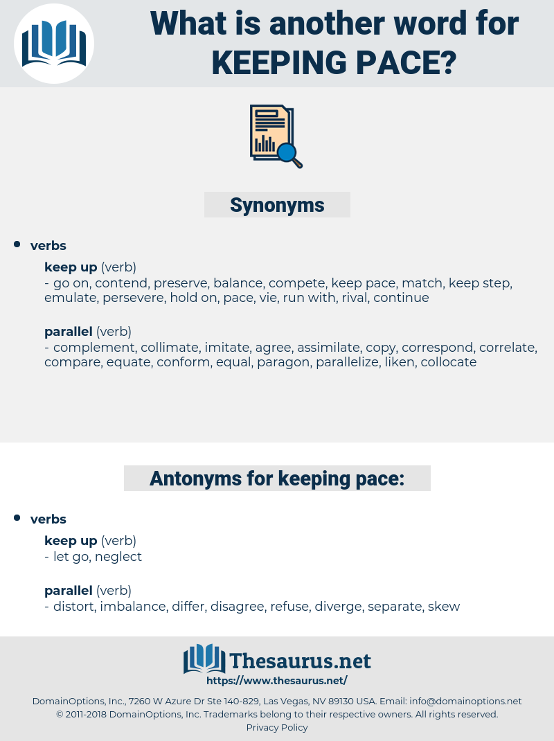 keeping pace, synonym keeping pace, another word for keeping pace, words like keeping pace, thesaurus keeping pace