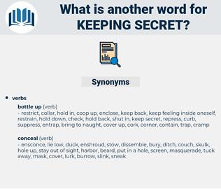 keeping secret, synonym keeping secret, another word for keeping secret, words like keeping secret, thesaurus keeping secret