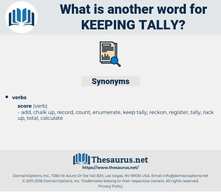 keeping tally, synonym keeping tally, another word for keeping tally, words like keeping tally, thesaurus keeping tally