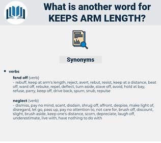 keeps arm length, synonym keeps arm length, another word for keeps arm length, words like keeps arm length, thesaurus keeps arm length