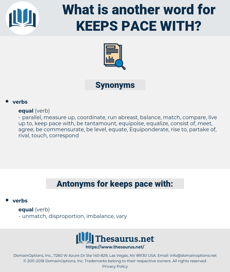 keeps pace with, synonym keeps pace with, another word for keeps pace with, words like keeps pace with, thesaurus keeps pace with