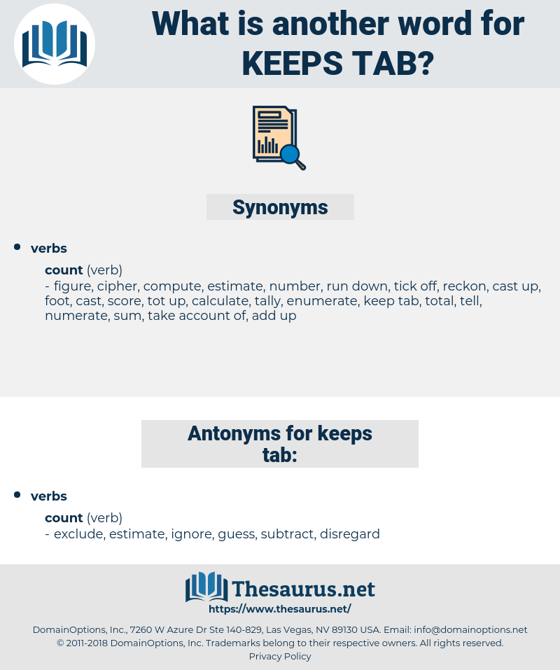keeps tab, synonym keeps tab, another word for keeps tab, words like keeps tab, thesaurus keeps tab