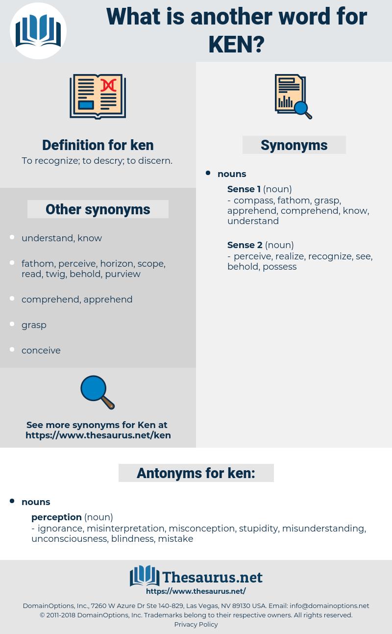ken, synonym ken, another word for ken, words like ken, thesaurus ken