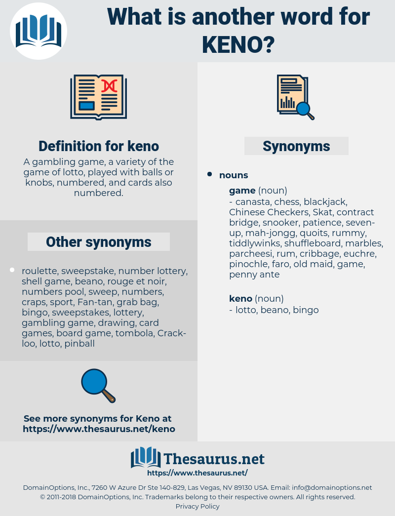 keno, synonym keno, another word for keno, words like keno, thesaurus keno