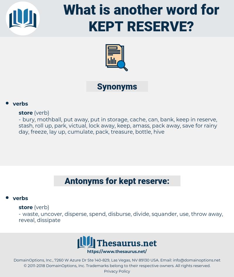 kept reserve, synonym kept reserve, another word for kept reserve, words like kept reserve, thesaurus kept reserve