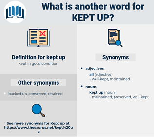 kept up, synonym kept up, another word for kept up, words like kept up, thesaurus kept up